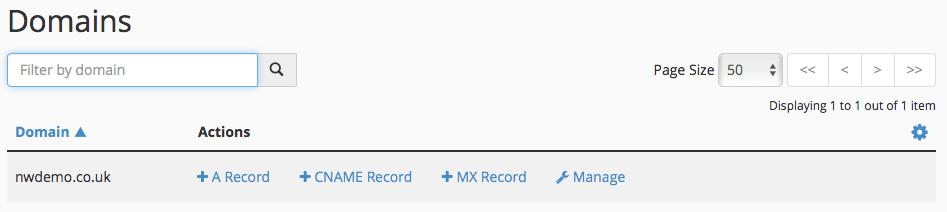 domain records