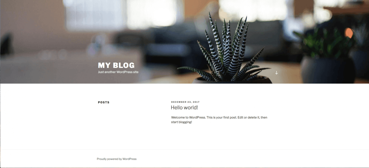 My Blog (WordPress example site)