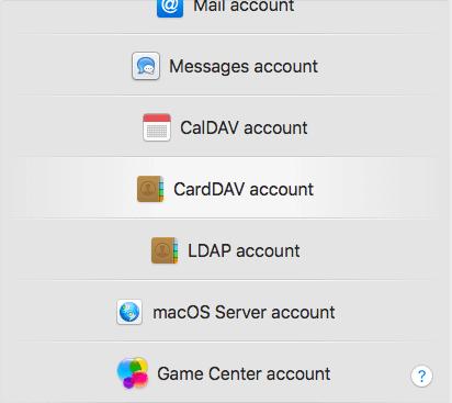 CardDav