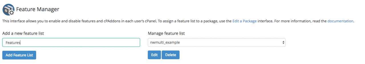 Add a new feature list