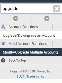 Modify/Upgrade Multiple Accounts