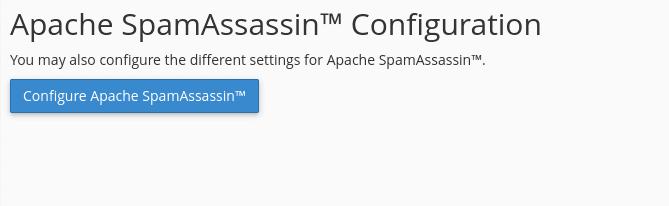 Configure Apache SpamAssassin