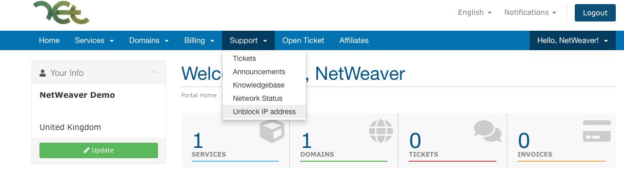Unblock IP