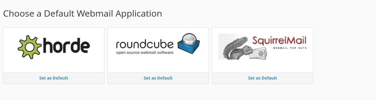 Webmail Applications