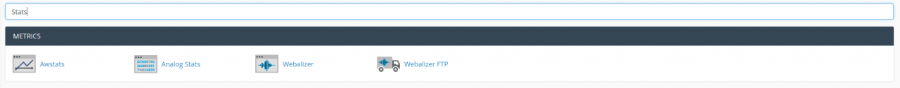 cPanel Search for Stats