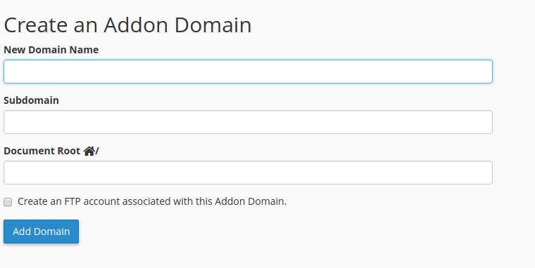 Create an Addon Domain
