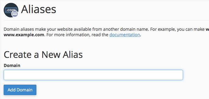 adding an alias