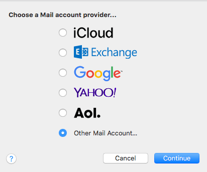 adding mail account