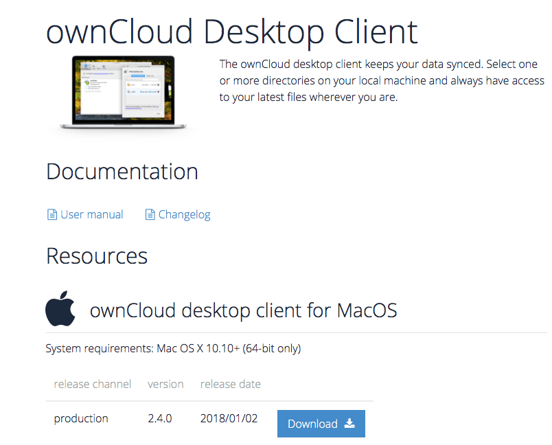 own cloud download