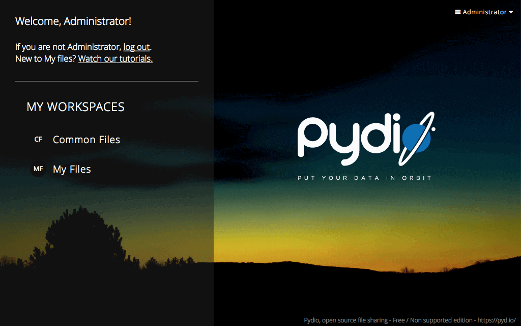 pydio interface