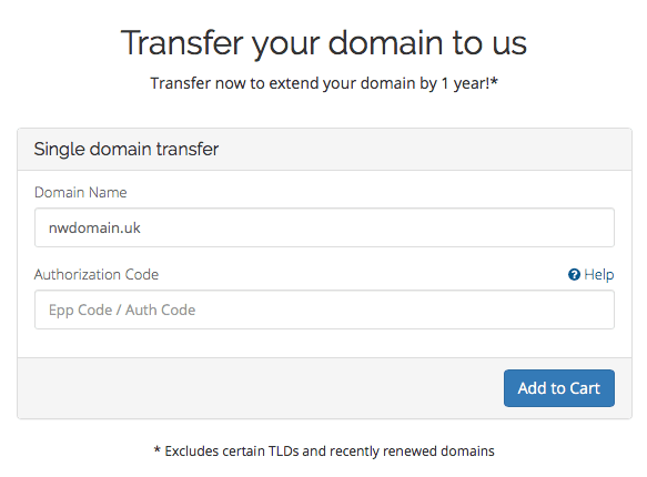 transfer uk domain